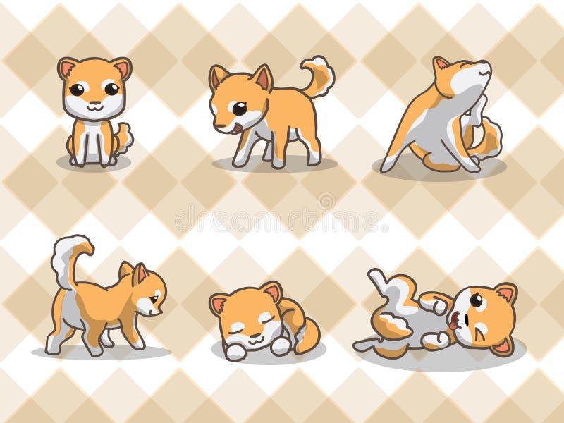 Inu de Shiba stock de ilustración