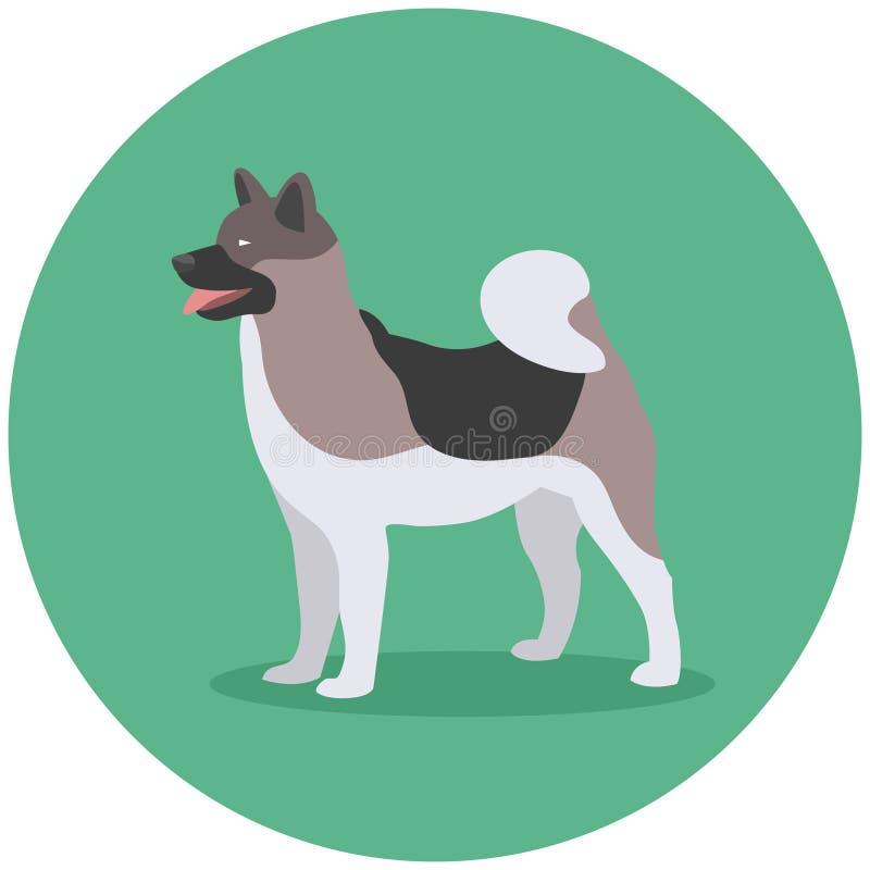 Inu van Akita van het hondras vector illustratie