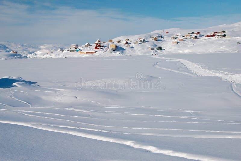inuit χωριό στοκ φωτογραφία με δικαίωμα ελεύθερης χρήσης