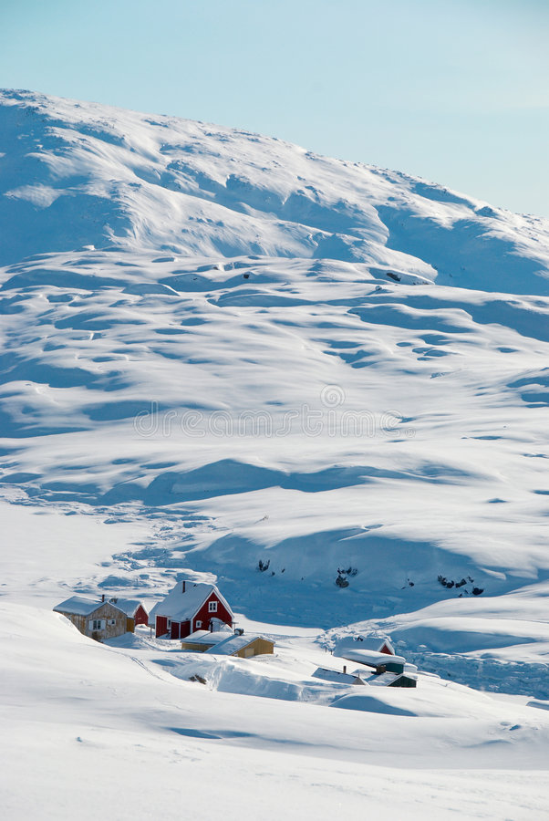 inuit χωριό στοκ εικόνες