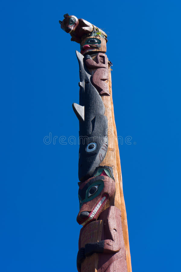 Inuit de Alaska do totem foto de stock