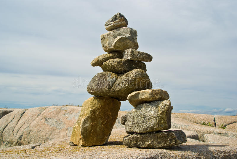 Inuit Inukshuk photo stock