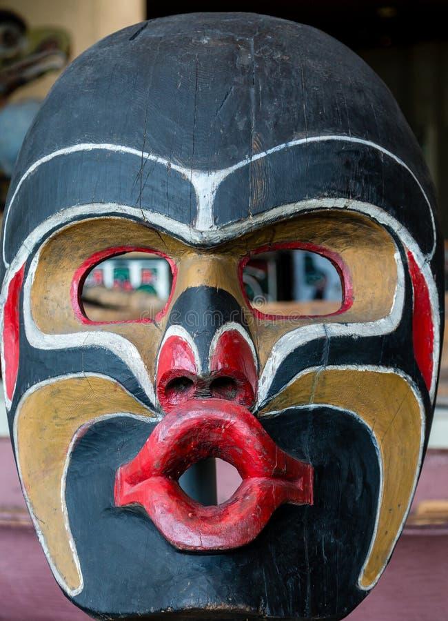 Inuit-Totem-Maske lizenzfreies stockfoto