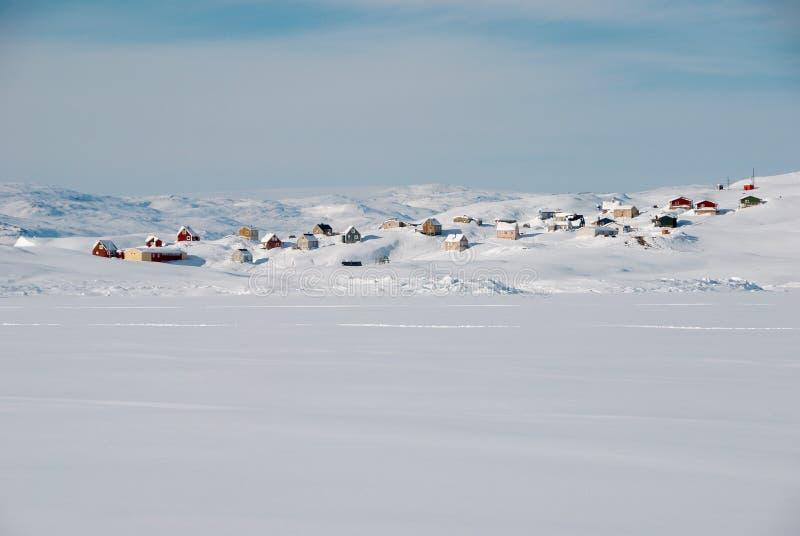 Inuit village stock photos