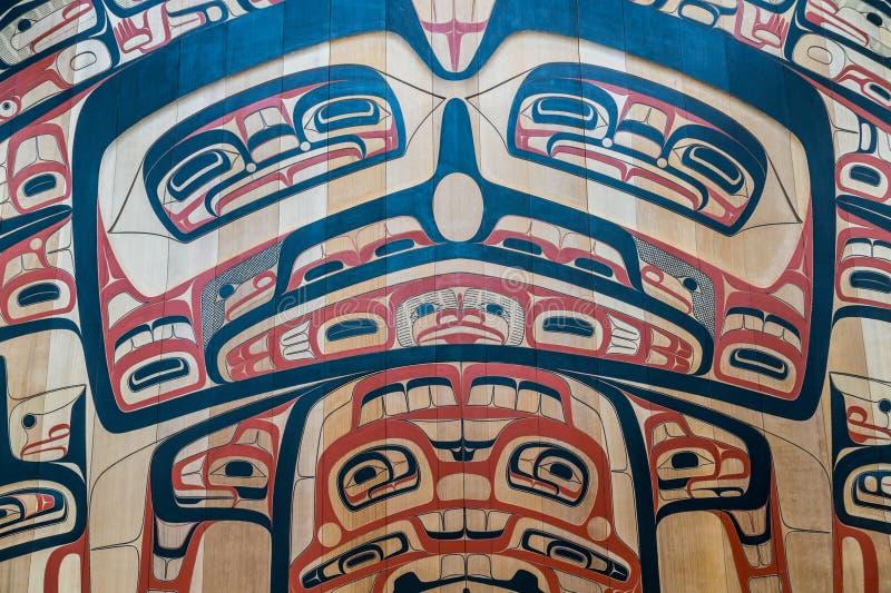 Inuitkonst på väggen royaltyfri fotografi