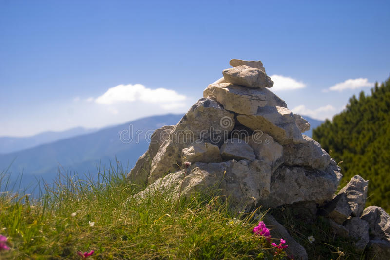 Download Inukshuk stock image. Image of clouds, traditional, cloudy - 9876961