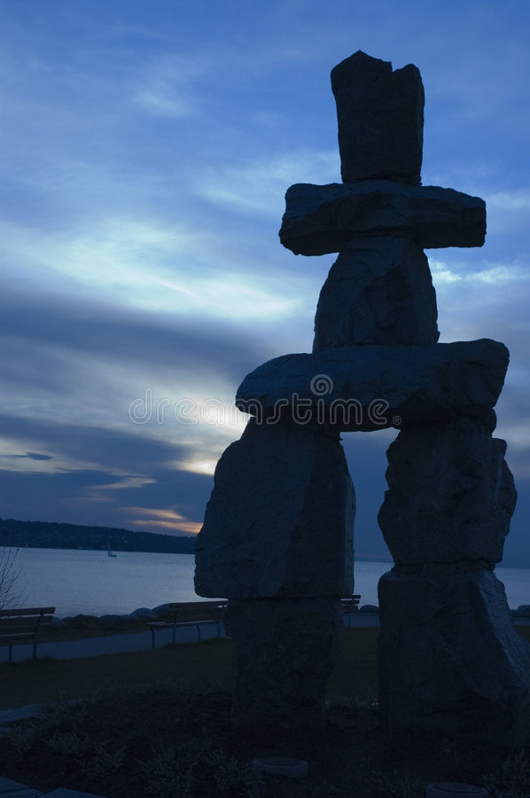 Free Inukshuk At Sunset. Royalty Free Stock Photography - 2276427