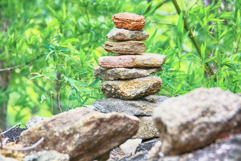 Inukshuk gestapelde steen stock foto's