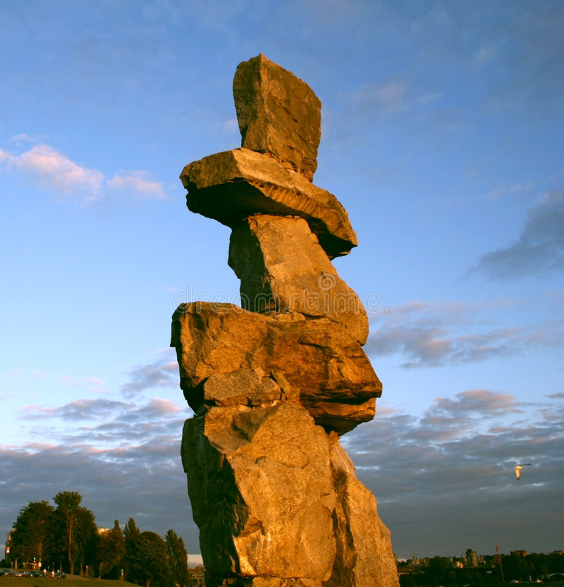 Free Inukshuk Vancouver, Canada Stock Photography - 3064492