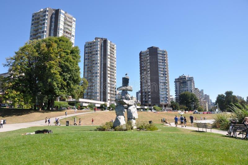 Inukshuk, Vancouver, Columbia Britannica, Canada immagini stock libere da diritti