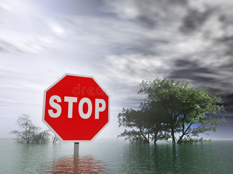 Inundação ilustração stock