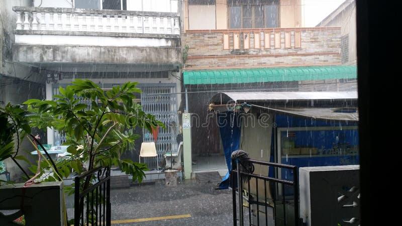 Inundação da chuva pesada fotos de stock royalty free