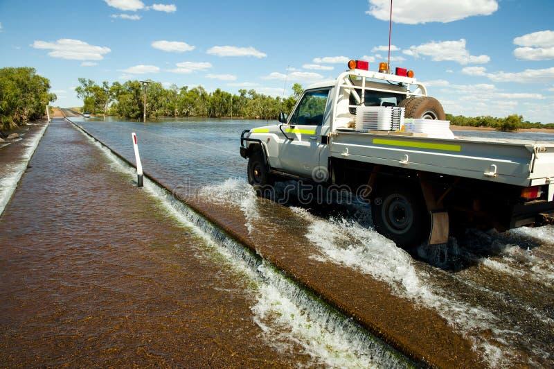 Inundação da estrada foto de stock royalty free