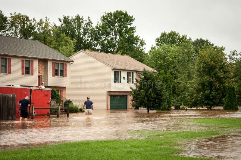 Inundação da tempestade fotografia de stock royalty free