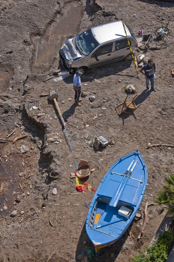 Inundação de Atrani imagens de stock royalty free