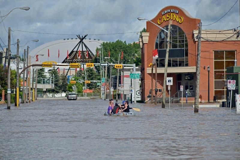 Inundação 2013 De Calgary Foto de Stock Editorial