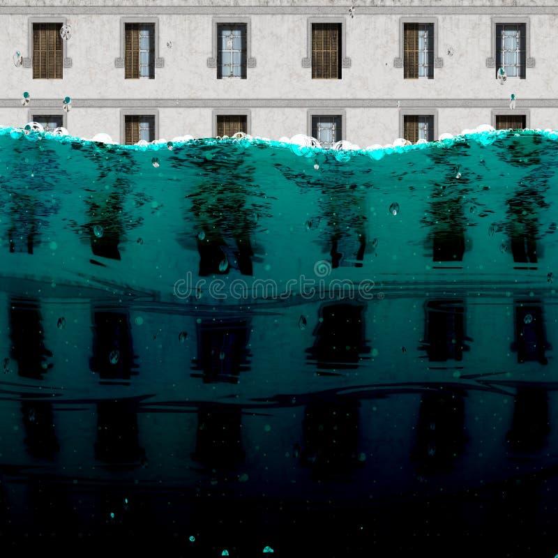 Inundação de construção fotografia de stock royalty free