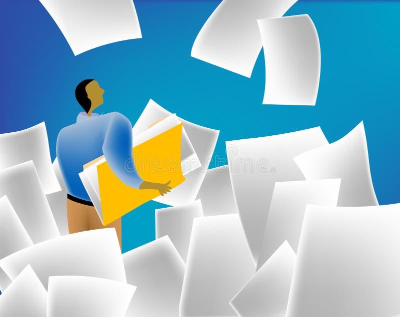 Inundação de papel ilustração stock