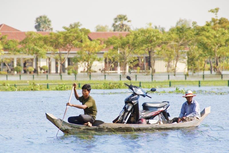 Inundação de Siem Reap imagem de stock royalty free