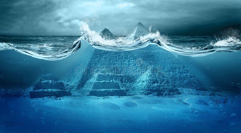 Inundação do apocalipse fotografia de stock