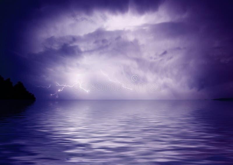 Inundação do disastre ilustração stock