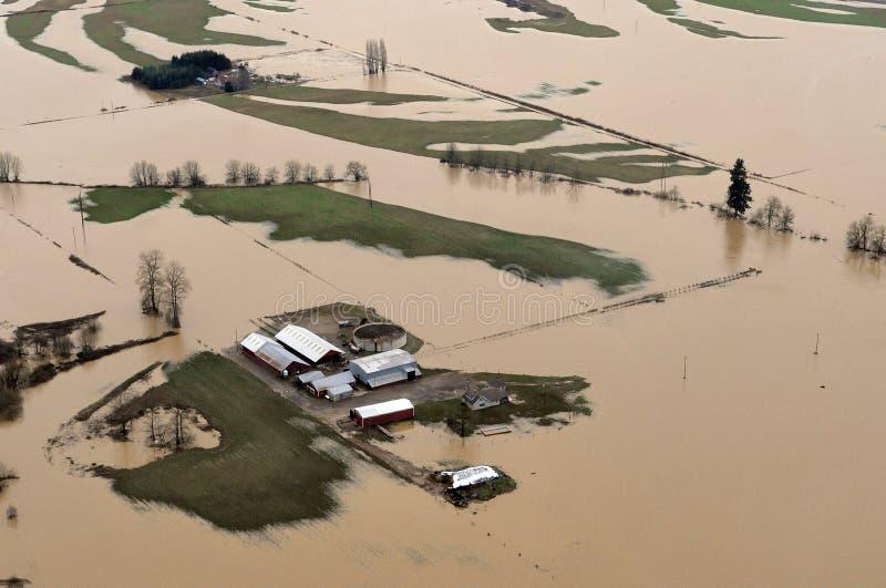 Inundação do estado de Washington foto de stock