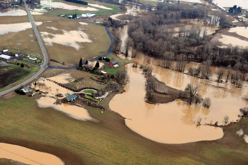 Inundação do estado de Washington fotografia de stock royalty free
