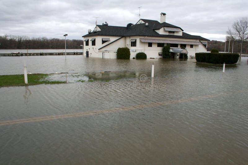 Inundação do rio de Connectictut imagens de stock royalty free