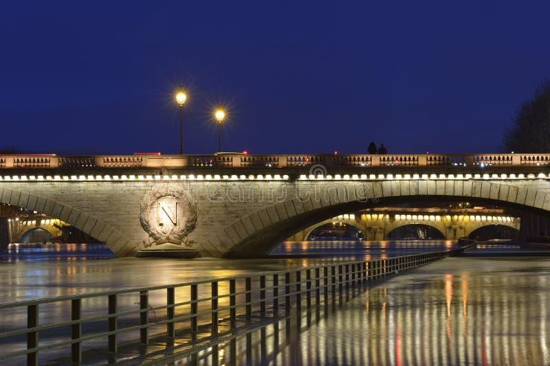 Inundação do Seine - a Paris imagens de stock