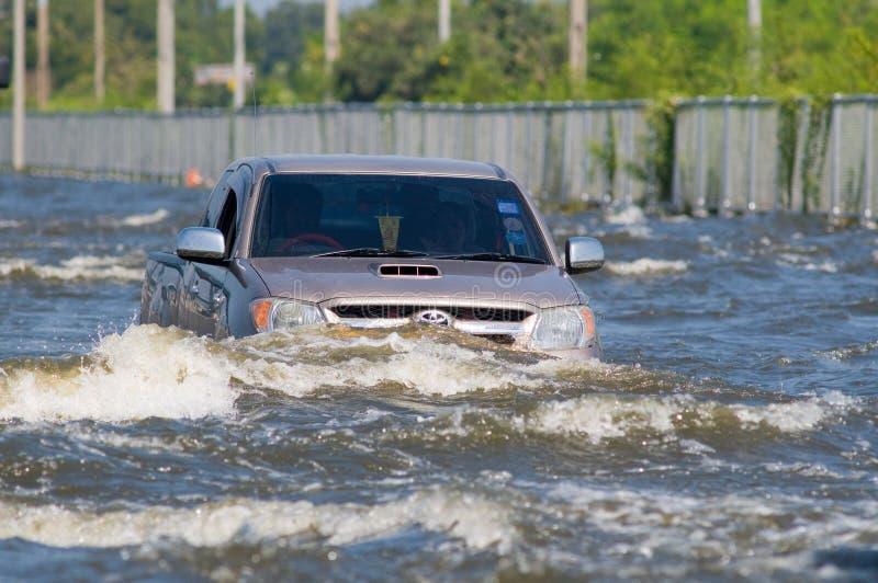 Inundação em Banguecoque, novembro 2011 da monção imagens de stock royalty free