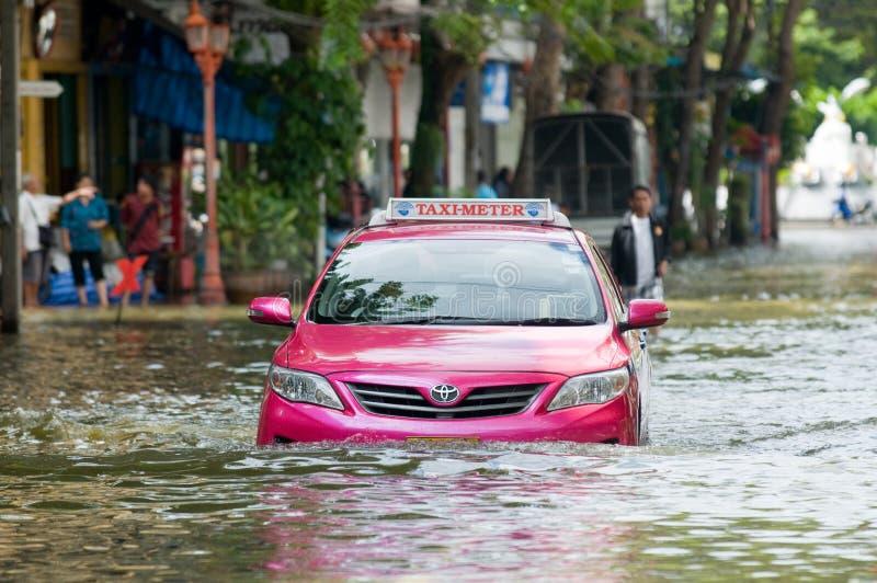 Inundação em Banguecoque, outubro 2011 da monção fotos de stock royalty free