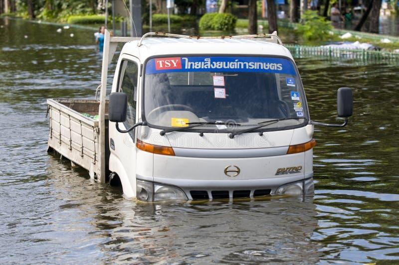Inundação em Banguecoque, outubro 2011 da monção fotos de stock