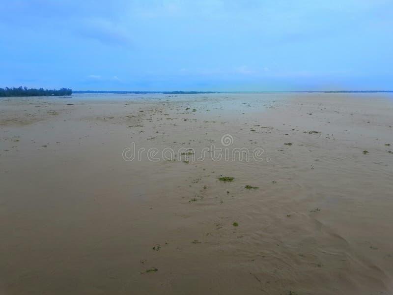 Inundação em Banhladesh foto de stock