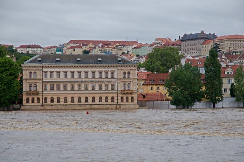 Inundação em Praga fotografia de stock