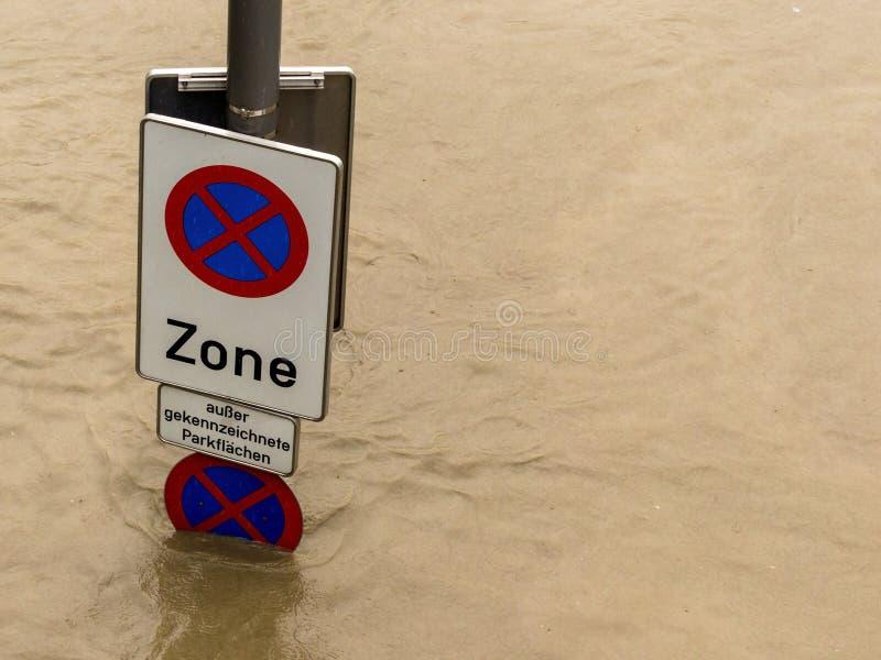 Inundação 2013 linz, Áustria imagem de stock royalty free