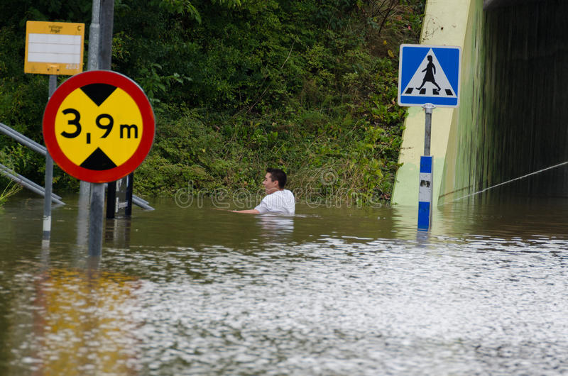 Inundação na Suécia fotos de stock royalty free