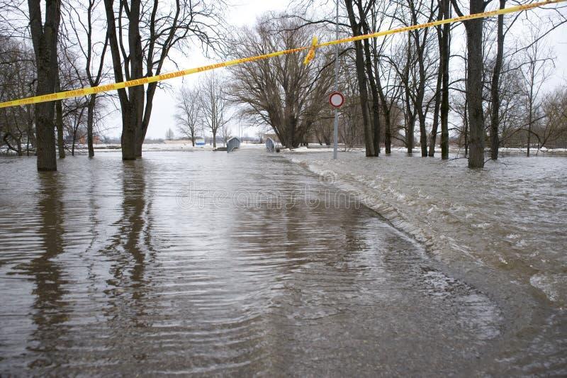 Inundação no rio fotos de stock royalty free