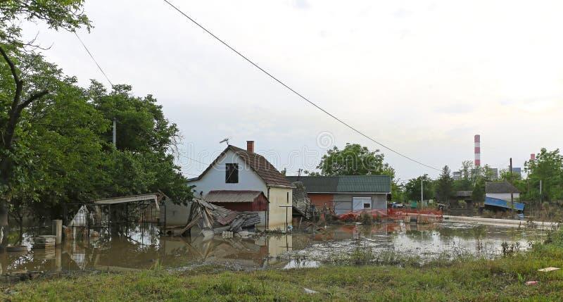 Inundação Obrenovac imagem de stock
