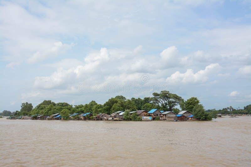 Inundação pesada em Mandalay, Myanmar imagem de stock royalty free