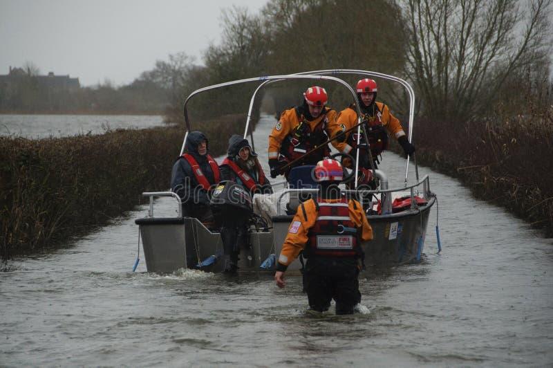 2014 inundações BRITÂNICAS Muchelney fotografia de stock royalty free