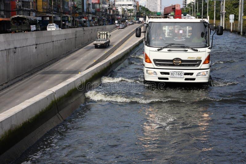 Inundações de Banguecoque foto de stock royalty free