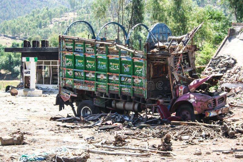 Inundações de Paquistão e avaliação de Buner fotografia de stock
