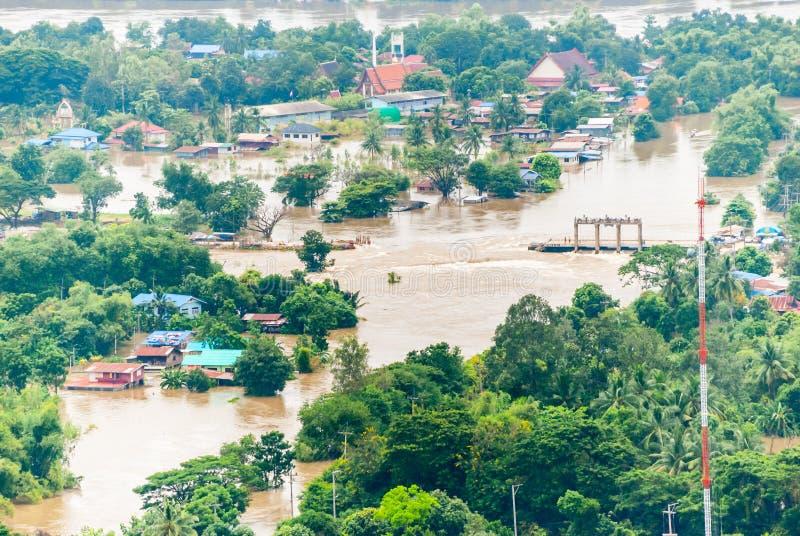 Inundações de Tailândia imagem de stock royalty free