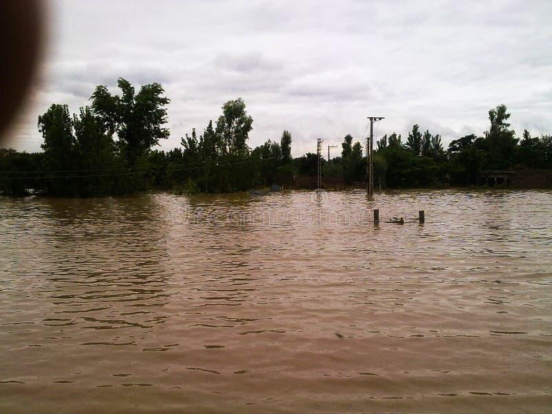 Inundações em Paquistão fotos de stock royalty free