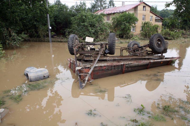 Inundações na república checa foto de stock royalty free