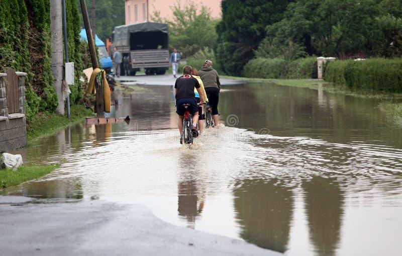 Inundações na república checa fotografia de stock royalty free
