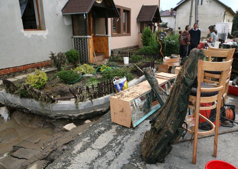 Inundações na república checa fotos de stock royalty free