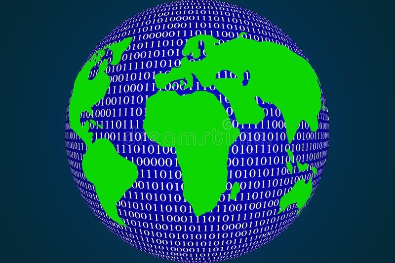 Inundación de los datos en el mundo entero imagen de archivo libre de regalías