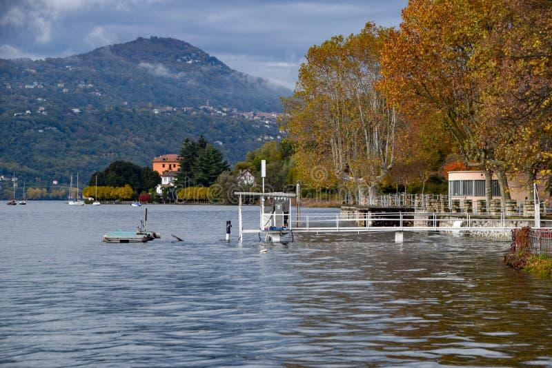 Inundación del lago fotos de archivo