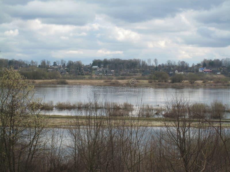Inundación del río imágenes de archivo libres de regalías